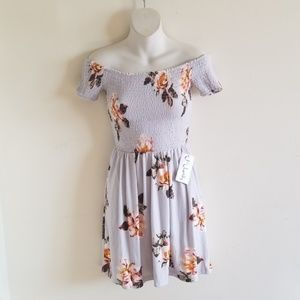 Floral off shoulder mini dress by J for Justify